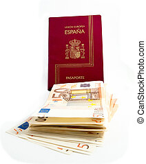 Spanish Passport and money