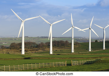 Wind Farm Yorkshire - Power generation wind farm 35m in...