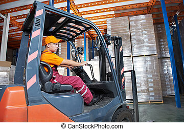 warehouse forklift loader worker - Warehouse worker...