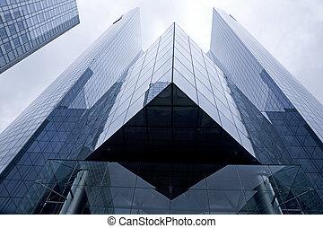 Big business - Futuristic corporate office building - La...
