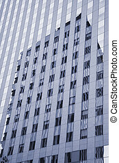 Facade la Defense, Paris - Abstract corporate facade with...