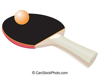 Racket for table tennis - Illustration of a racket for table...