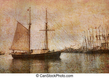 Old schooner - Dream of the good old days. Several of my...