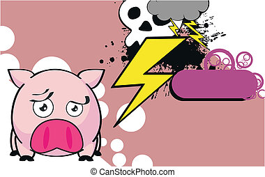 pig ball cartoon background9