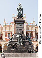 Adam Mickiewicz Monument in Kraków, is one of the best known...