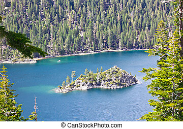 Emerald Bay tea house - Tea house on island in the middle of...
