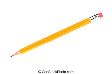 Sharp pencil - A picture of a new sharp yellow pencil over...