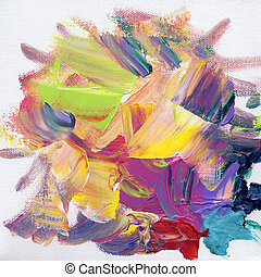 acrylic paint background - hand painted colorful background...