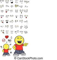 tennis kid cartoon set12 - tennis kid cartoon set in vector...
