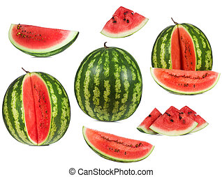 set with watermelon