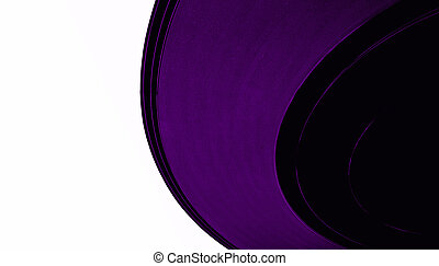 vintage vinyl 33rpm record, black label, clipping path,...