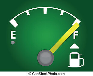 green gas gage illustration