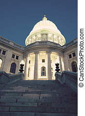 State Capitol Building in Madison, Wisconsin, USA