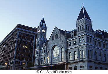 Union Station in downtown of Louisville