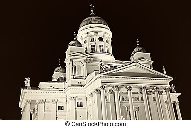 B&W of Lutheran Cathedral