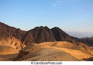 Winter morning in desert Sinai
