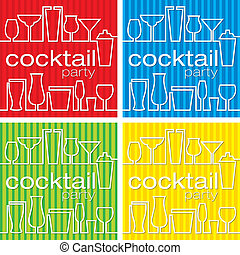 Cocktail Party - Cocktail party invitations in vector...