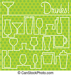 Cocktails! - Cocktail card in vector format.