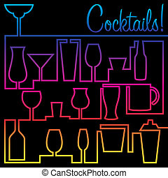 Cocktails - Cocktail card in vector format