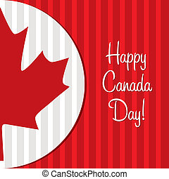 Happy Canada Day! - Happy Canada Day maple leaf card in...