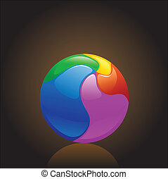 colorful chrome ball