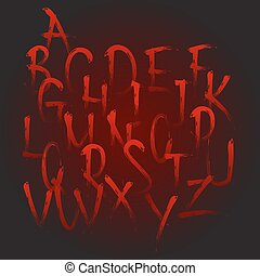bloody calligraphy