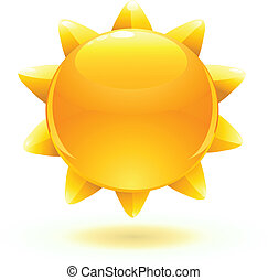 summer sun - Vector illustration of cool cartoon summer sun...