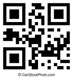 Sale data in qr code. (modern bar code). EPS 8