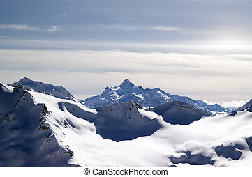 Caucasus Mountains View from Elbrus