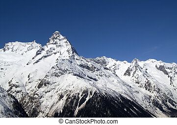 Caucasus Mountains. Dombay. - Caucasus Mountains. Region...