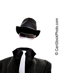 Invisible man - An invisible man isolated on white...
