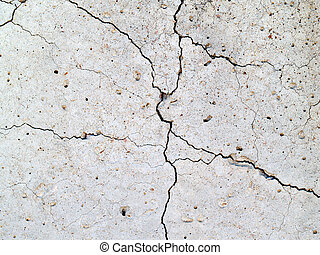 Crack in concrete2 - cracks in concrete slab for the...