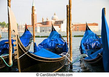 gondolas Grand Canal Venice italy