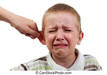 Child punishment - Violence and abuse - cry child pull ear...