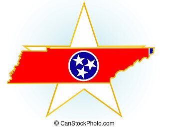 Tennessee - The illustration on white background. Coat of...
