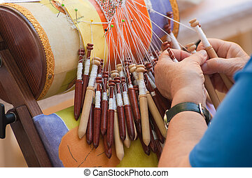 Bobbin lace-making