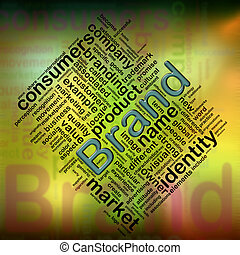 Brand wordcloud - Illustration of wordcloud related to word...