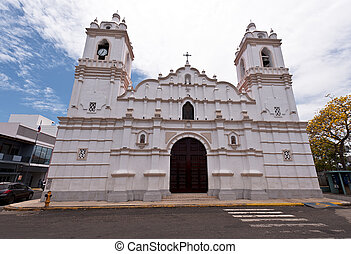 Cathedral building in Chitre, Panama - Cathedral of St. John...