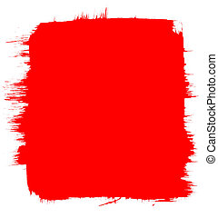 Red Paint Background - A red background with brush-strokes...