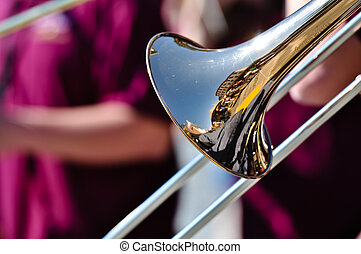 Trumpet Played at Jazz Festival