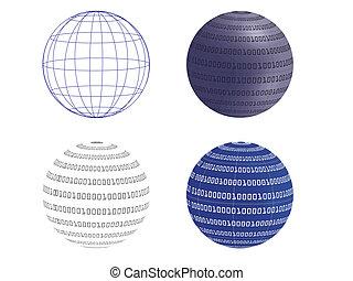 digital globe vector illustration