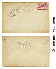 Vintage United States Airmail Envelope - The front and back...