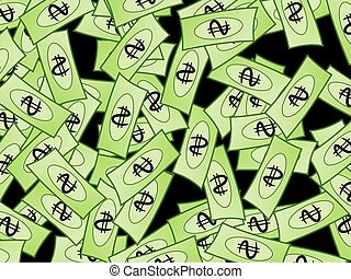 Dollar Wallpaper - Illustration of a windfall of dollars...