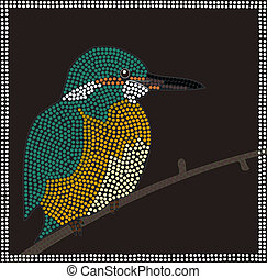 Dreamtime - Kingfisher - little bird with beautiful colors