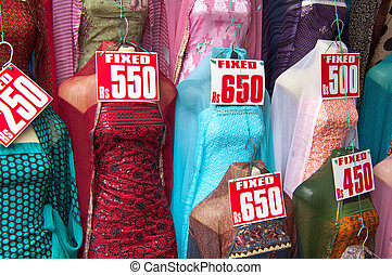 Indian Sari Dress for Sale in Market