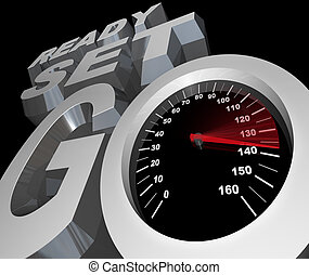 Ready Set Go Speedometer Starting Race Competition - The...