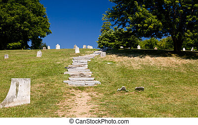 Old cemetery in Harpers Ferry - National Park Service owns...