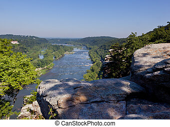 View over Potomac River at harpers ferry - Potomac river...
