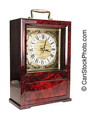 Mantle Clock on White Background