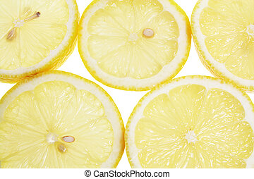 Lemon Slices - Close Up of Lemon Slices